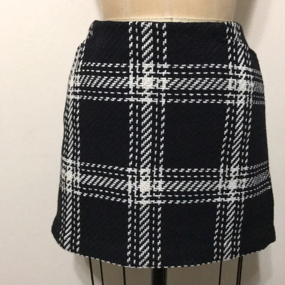51485b3d0 GAP Dresses & Skirts - GAP black White Plaid wool mini skirt checkered